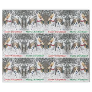Merry Christmas Beagle Pups & Woods Wrapping Paper