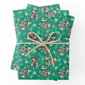 Merry Christmas | Deck the Halls Mickey & Donald Wrapping Paper Sheets