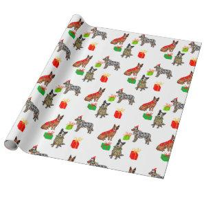 Merry christmas dogs wrapping paper