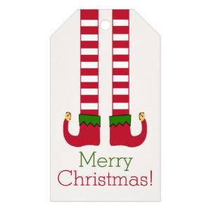 Merry Christmas - Elf Legs Personalized Gift Tags