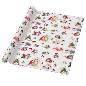 Merry Christmas Kittens 2 Wrapping Paper