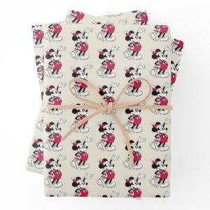 Merry Christmas | Mickey Mouse Vintage Santa Claus Wrapping Paper Sheets