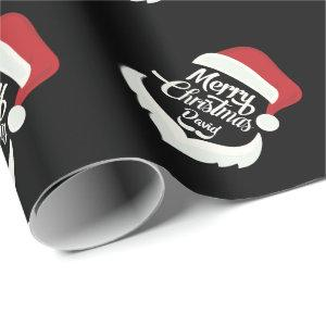 Merry Christmas Santa Hat wrapping paper