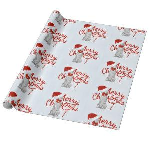 MERRY CHRISTMAS WEIMARANER WRAPPING PAPER