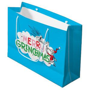 Merry Grinchmas Mister Grinch Large Gift Bag
