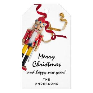 Merry To Holiday Gift Happy New Year Nutcracker Gift Tags