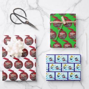 Metalphant Winter Holiday Wrapping Paper Sheet Set