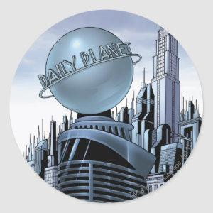 Metropolis and the Daily Planet Classic Round Sticker