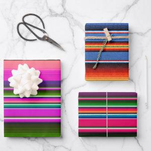 Mexican Blanket Colorful Fiesta mexico Wrapping Paper Sheets