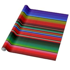 Mexican Blanket Fiesta Stripes Colorful Sarape Wrapping Paper