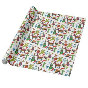 Mexican Fiesta Party Images Wrapping Paper