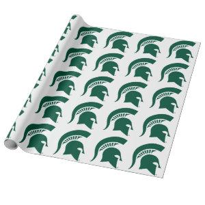 Michigan State University Spartan Helmet Logo Wrapping Paper