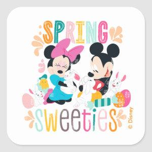Mickey and Minnie | Spring Sweeties Square Sticker