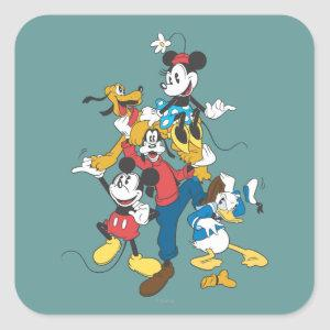 Mickey & Friends | Classic Group Square Sticker