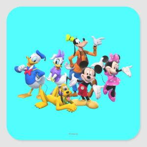 Mickey & Friends | Clubhouse Square Sticker