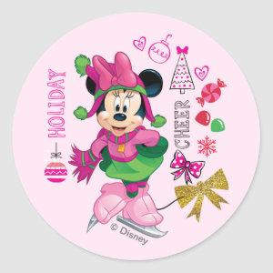 Mickey & Friends | Minnie Holiday Cheer Classic Round Sticker