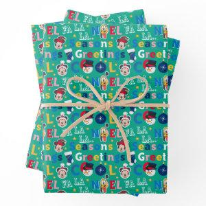 Mickey & Friends | Season's Greetings Pattern Wrapping Paper Sheets