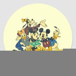 Mickey & Friends | Vintage Hug Classic Round Sticker