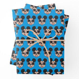 Mickey   Mickey Smiling Sunglasses Wrapping Paper Sheets