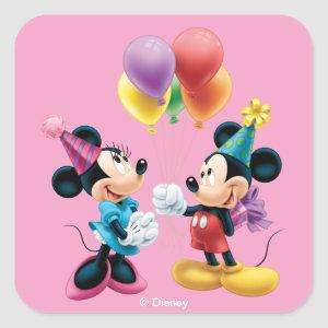 Mickey & Minnie | Birthday Square Sticker