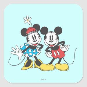 Mickey & Minnie | Classic Pair Square Sticker