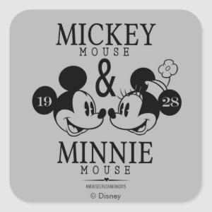 Mickey & Minnie | Est. 1928 Square Sticker