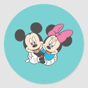 Mickey & Minnie | Hugging Classic Round Sticker