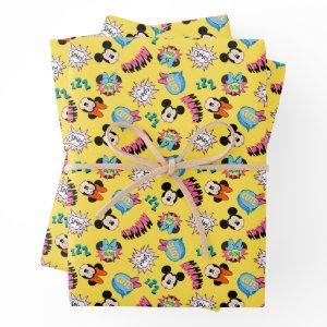 Mickey & Minnie | Super Hero Pop Pattern Wrapping Paper Sheets