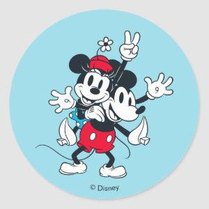 Mickey & Minnie | Two of a Kind Classic Round Sticker