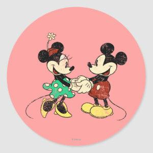 Mickey & Minnie | Vintage Classic Round Sticker