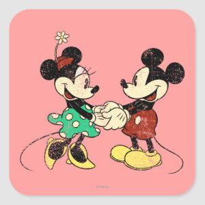Mickey & Minnie | Vintage Square Sticker