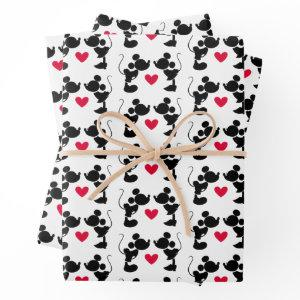 Mickey & Minnie Wedding Wrapping Paper Sheets