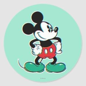 Mickey Mouse 3 Classic Round Sticker