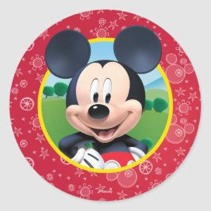 Mickey Mouse Birthday Classic Round Sticker