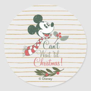 Mickey Mouse | Can't Wait 'til Christmas! Classic Round Sticker
