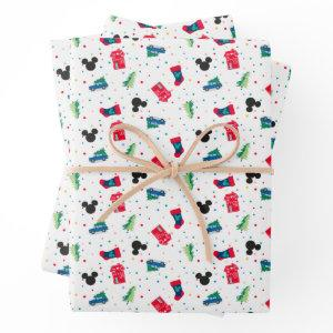 Mickey Mouse | Christmas Icon Pattern Wrapping Paper Sheets