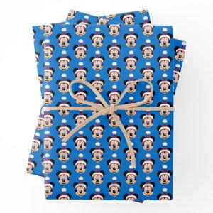 Mickey Mouse | Cute Christmas Hat Wrapping Paper Sheets