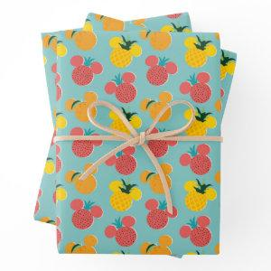 Mickey Mouse Fruit Icon Pattern Wrapping Paper Sheets