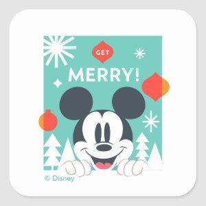 Mickey Mouse | Get Merry! Square Sticker