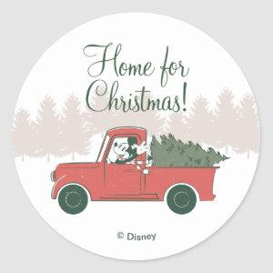 Mickey Mouse | Home for Christmas Classic Round Sticker