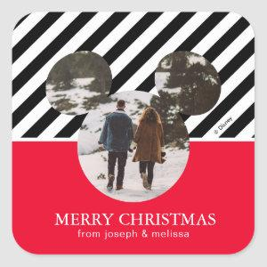 Mickey Mouse | Our First Christmas Married Square  Square Sticker