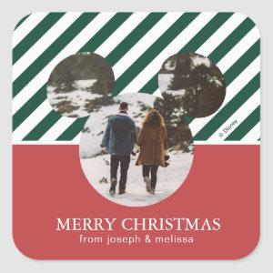 Mickey Mouse | Our First Christmas Married Square Sticker