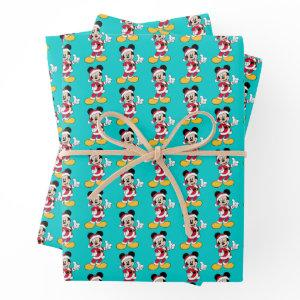 Mickey Mouse | Santa Claus Outfit Wrapping Paper Sheets