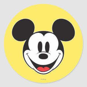 Mickey Mouse Smiling Classic Round Sticker