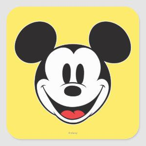 Mickey Mouse Smiling Square Sticker