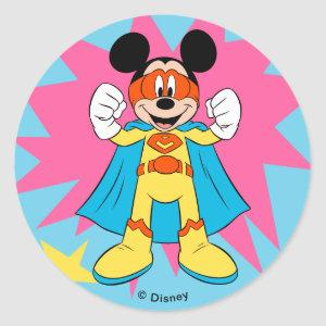 Mickey Mouse | Super Hero Cute Classic Round Sticker