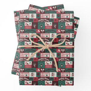 Mickey   Outdoor Adventure Pattern Wrapping Paper Sheets
