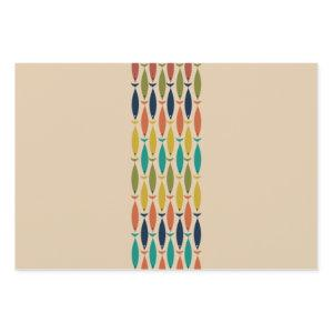 Mid Century Modern Fish and Minimalist Ocean Wave  Wrapping Paper Sheets
