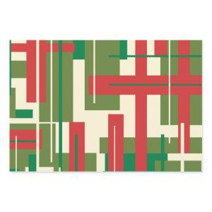 Midcentury Modern Deconstructed Plaid Christmas  Sheets