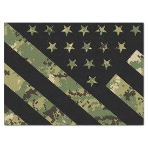 Military Digital Camouflage US Flag Tissue Paper